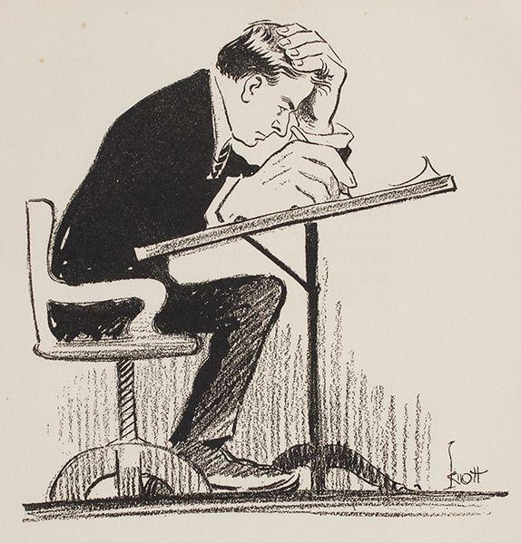 John Knott, Karikatura samog sebe