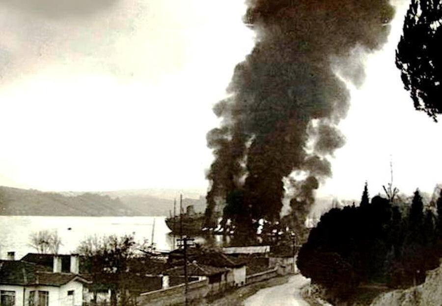 Tanker Petar Zoranić požar 1
