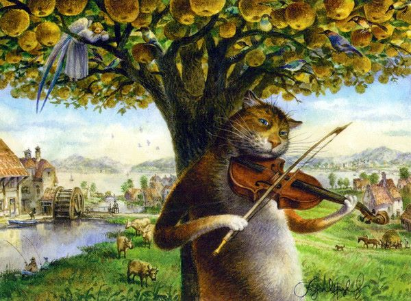 Mačka s violinom