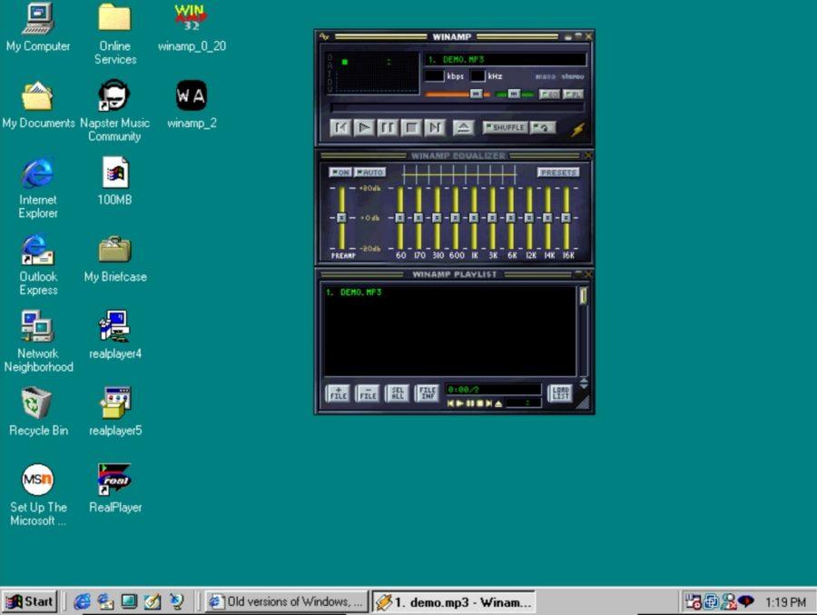 Winamp player na starim Windowsima