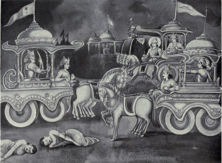 Bhisma odbija borbu protiv Sikhandija