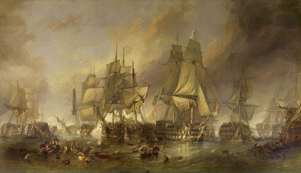 Bitka kod Trafalgara (by Clarkson Stanfield)
