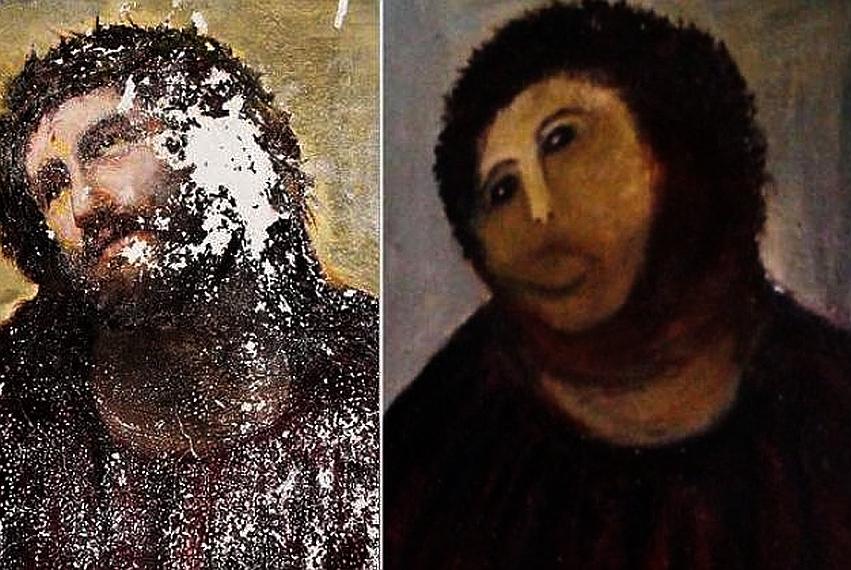 """Sjećate se ovog užasa? Nedavno je ovako """"obnovljena"""" još jedna prastara umjetnina!"""