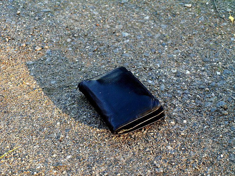 Spomenik svim izgubljenim novčanicima na ulicama ruskog grada