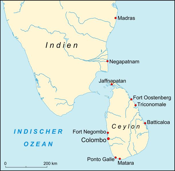 Jug Indije i Ceylon