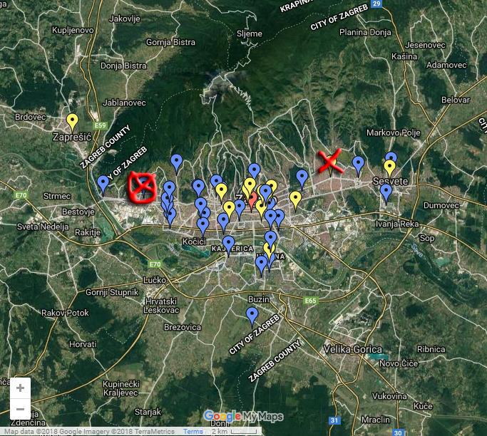 Knjižnice karta Gajnice