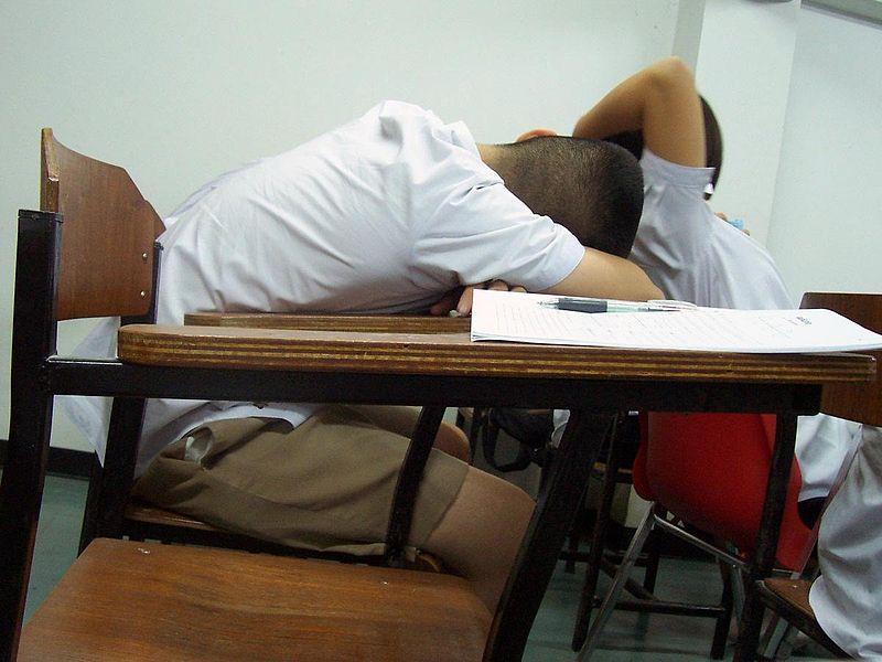 Ucenik spava