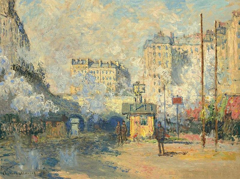 Monet Extérieur de la gare Saint-Lazare