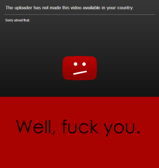 YouTube Fuck you