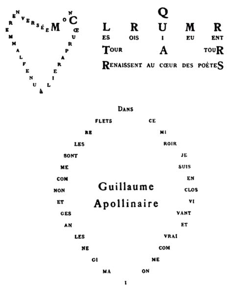 Guillaume Apollinaire konkretna poezija