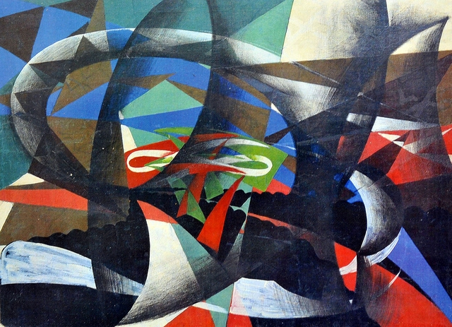 Giacomo Balla Patriotic Demonstration