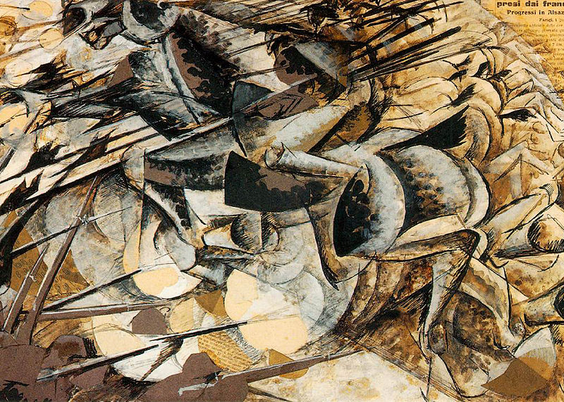 Umberto Boccioni, Charge of the Lancers