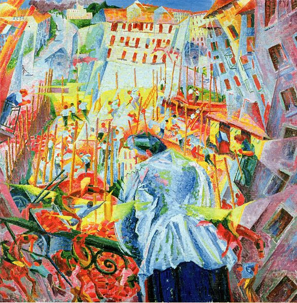Umberto Boccioni The Street Enters the House