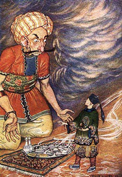 jinni, ilustracija, Milo Winter