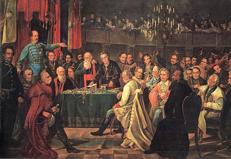 Dragutin Weingärtner, Hrvatski sabor 1848.
