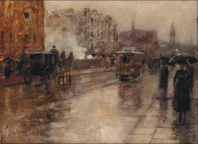 Umjetnost za kišne dane ( 1 pjesnička proza i 5 slikarskih djela s temom gradske kiše)
