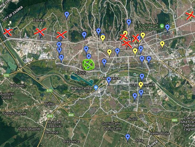 Knjižnice karta, Staglišće Google Maps