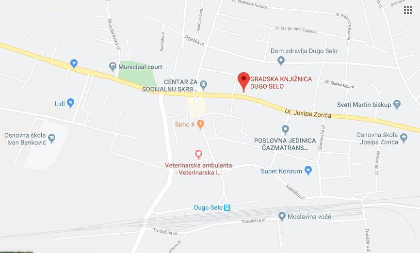 Knjižnica Dugo Selo, Google Maps