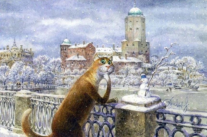 Ludi ruski slikar predočio kako bi izgledao svijet u kojem dominiraju mačke!