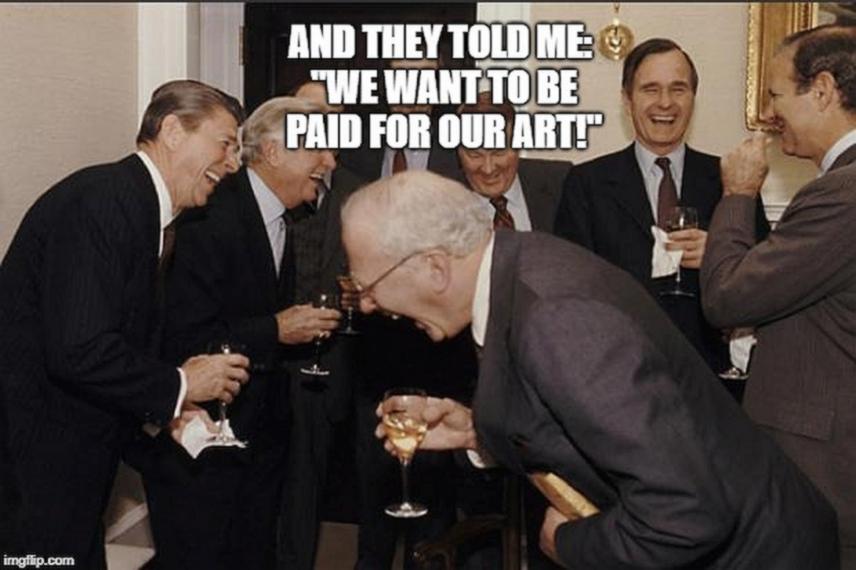 Treba li umjetniku platiti za njegovu kreativnost?