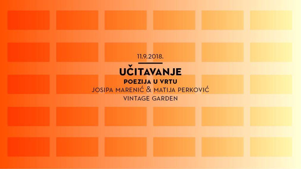 Gosti novog Učitavanja u vrtu: Josipa Marenić i Matija Perković